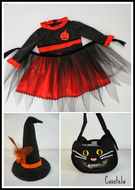 Vestido de bruja para Halloween