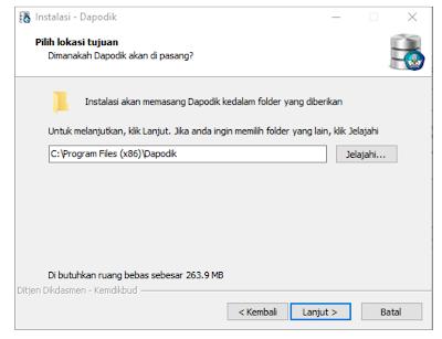 folder penyimpanan instalasi dapodikdasmen 2020