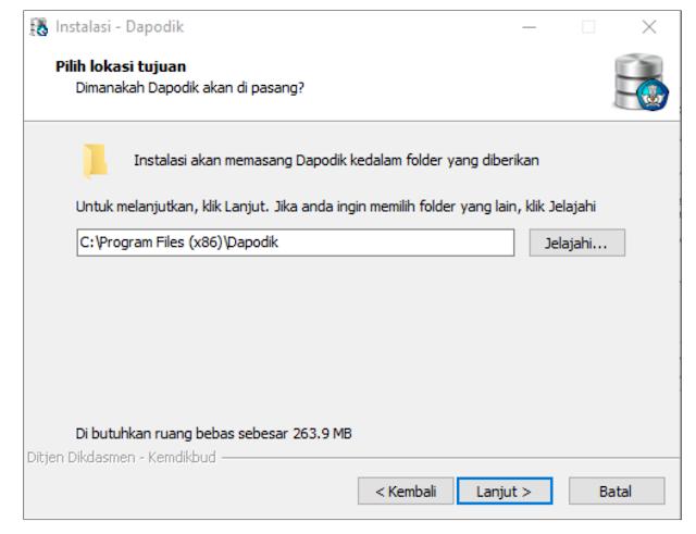 folder penyimpanan instalasi dapodikdasmen