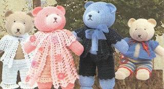 Famille ours au crochet