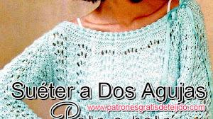 Suéter Dos Agujas / Tutorial