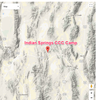 Climbing My Family Tree: Map 2 of site of Camp Indian Springs CCC Camp in Nevada