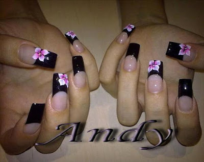 Stylish-and-Cute-Nail-Designs-with-Bows-and-Diamonds-for-Girls-3