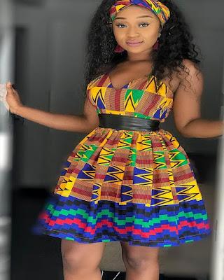 vestido corto de colores con estampado africano tumblr elegante