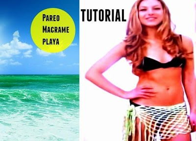 Pareo de Macrame para la playa tutorial