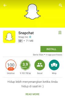 Cara membuat akun Snapchat