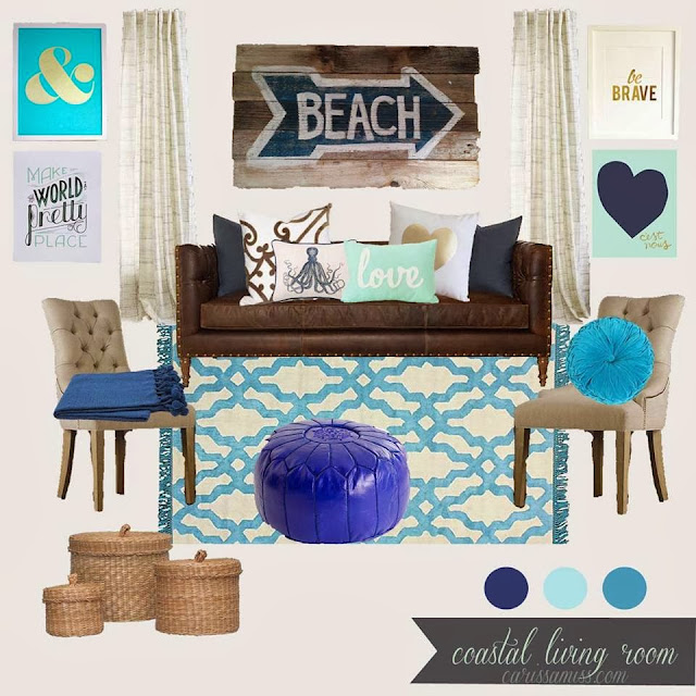 Beach living room design