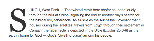 http://www.timesofisrael.com/with-bibles-and-shovels-a-search-for-the-biblical-tabernacle-gathers-pace-at-shiloh/