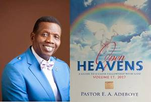 Open Heavens 18 November 2017: Saturday daily devotional by Pastor Adeboye – Only An Honour
