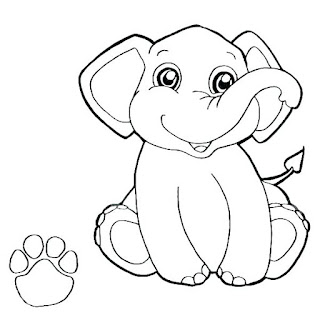 Printable Elephant Coloring Pages
