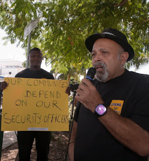 Miami City Hall officers accuse Kent Security of breaking the law.