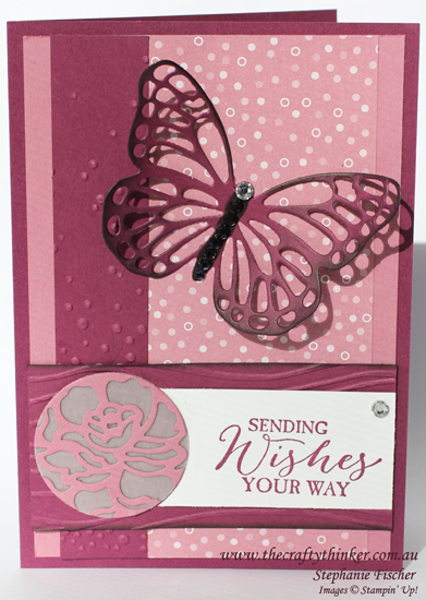 Stampin Up, #thecraftythinker, Detailed Floral Thinlits, Butterfly, Envelope Paper, Vellum, Stampin Up Australia Demonstrator