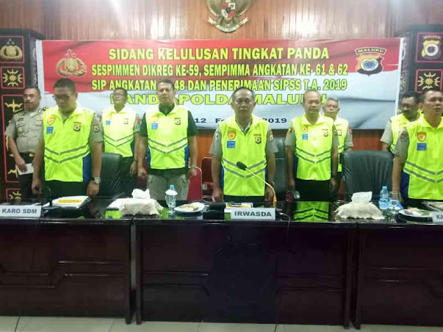 Polda Maluku Gelar Sidang Kelulusan Seleksi Sespimen, Sespima, SIP dan SIPSS