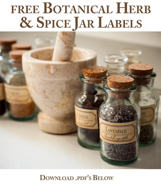 For Strange Women: DIY Spice Jar Labels