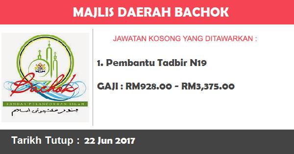 Jawatan Kosong di Majlis Daerah Bachok