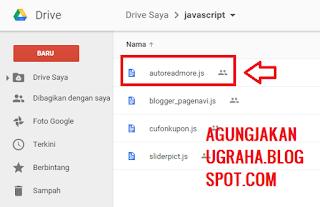 Cara terbaru mengambil url javascript dari google drive