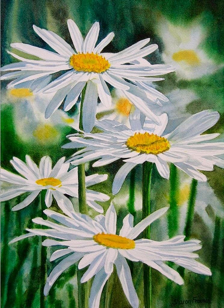 flores-blancas-acuarelas-realistas