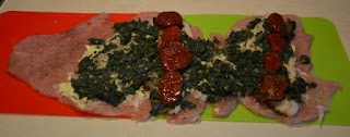 rolada z indyka ze szpinakiem i suszonymi pomidorami