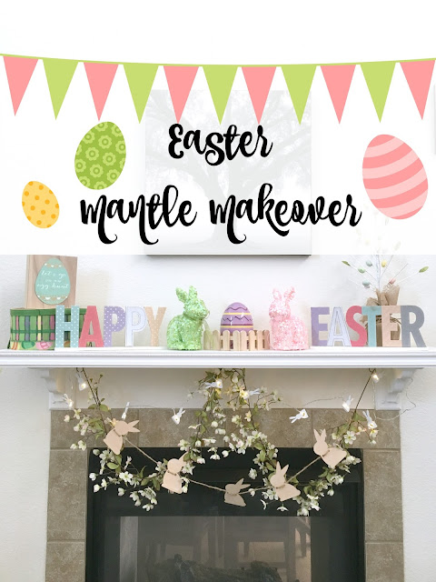 Mantle Makeover, Easter Mantle Ideas, Target Easter, Target Dollar Section,