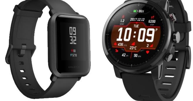 Huami Amazfit Bip Amazfit Stratos Smartwatches Launched