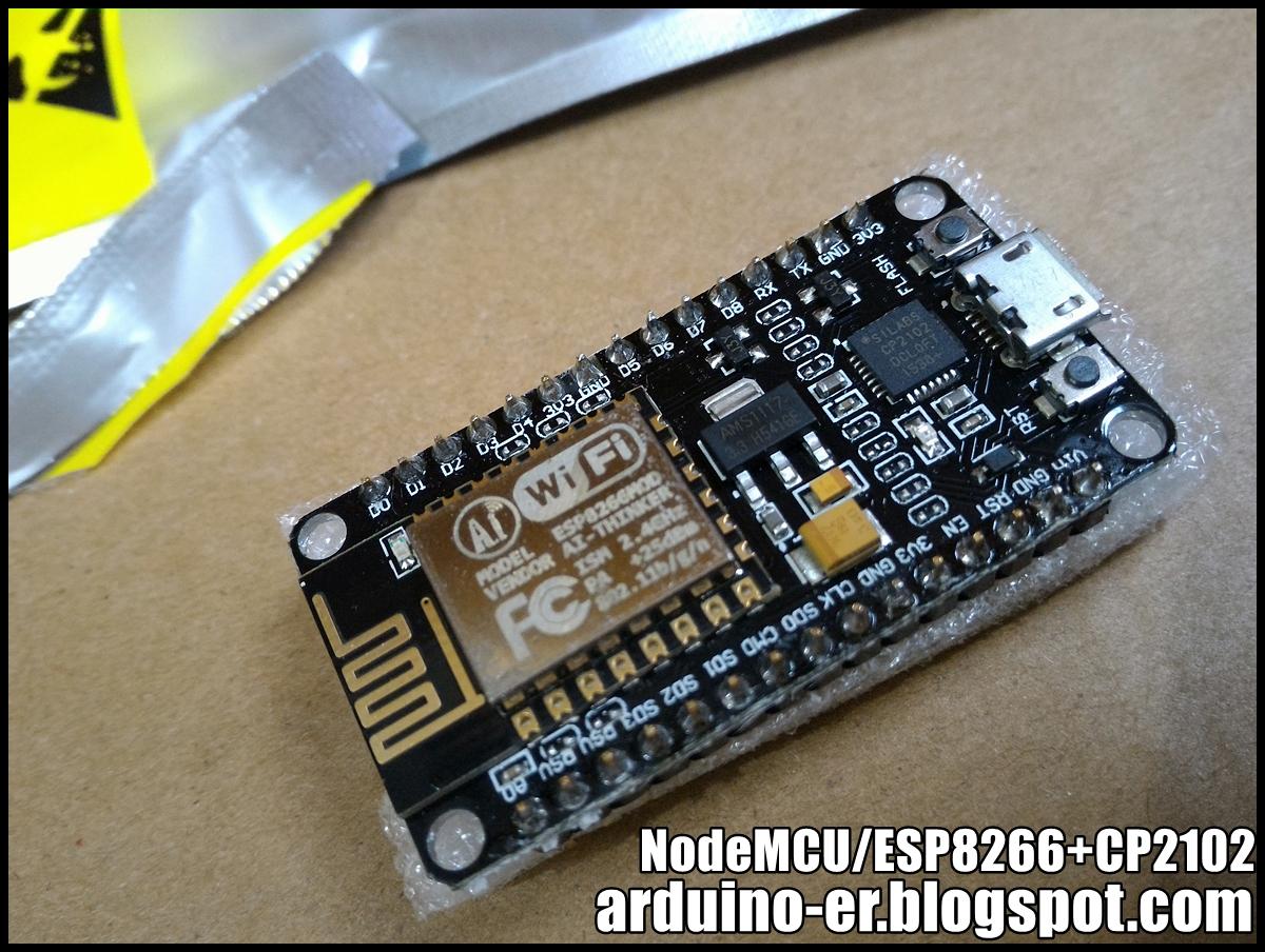 Arduino-er: NodeMCU - ESP8266/CP2102