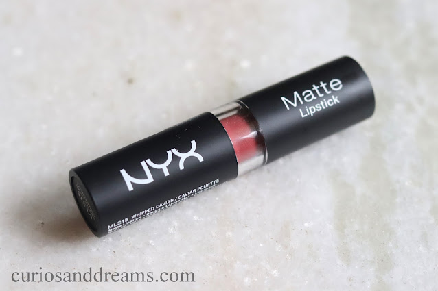 NYX whipped caviar, Nyx India, Nyx Matte Lipstick, Nyx lipstick India