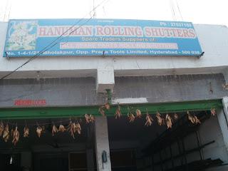 Hanuman rolling Shutters  Bholakpur Hyderabad