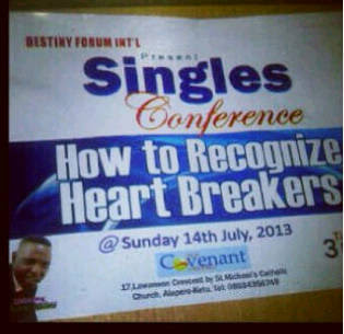 A Ghanaian Church Is Willing To Teach You How To Recognize Heart Breakers
