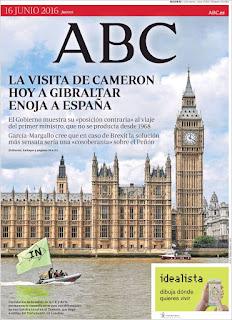 Portada del Abc.