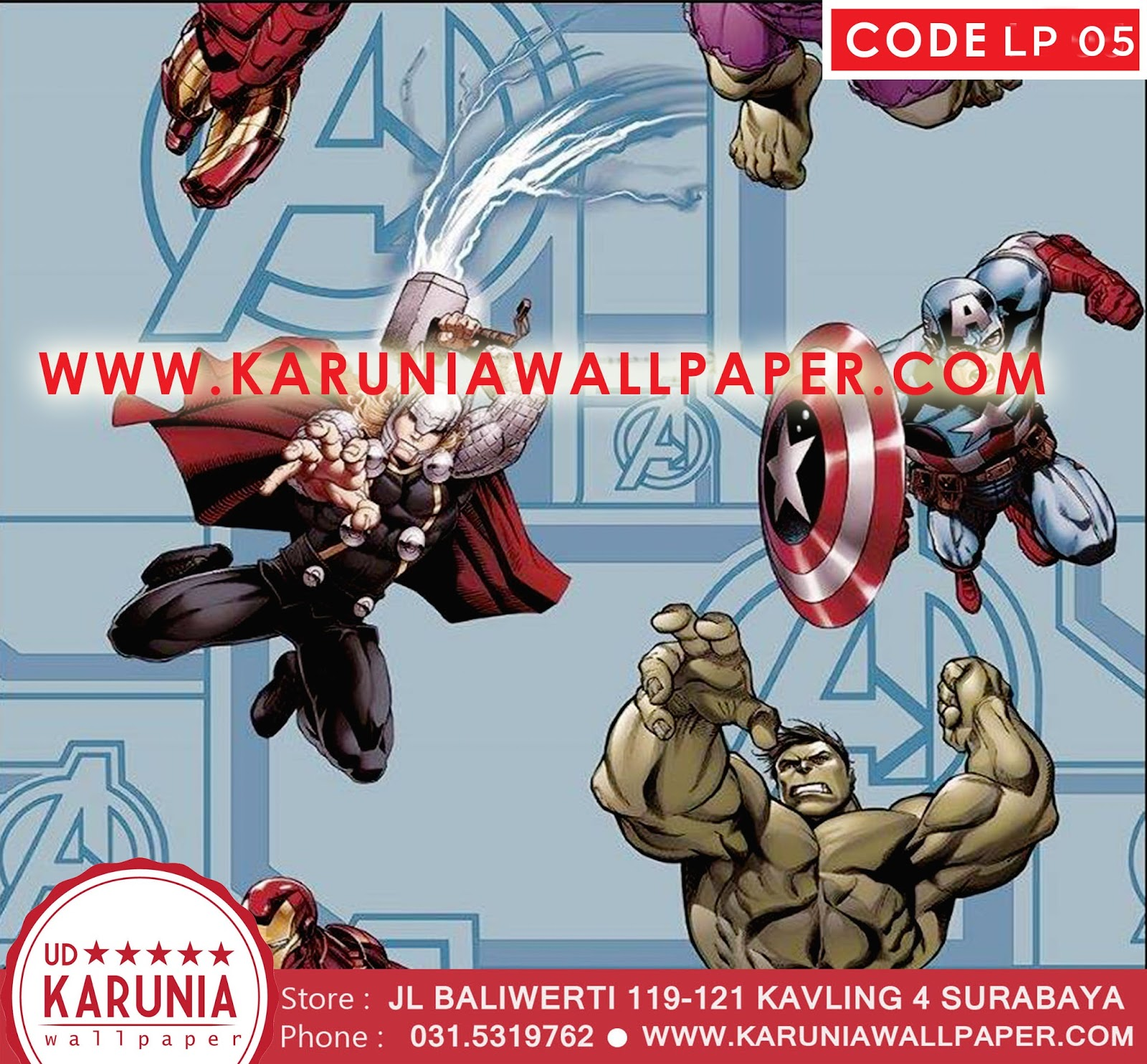 jual wallpaper marvel
