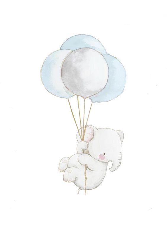 Dibujos a color tiernos elefantes a color - Fotos de elefantes bebes ...