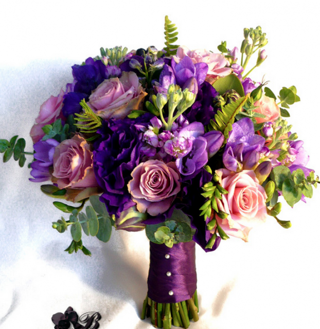 Purple And Pink Wedding Flowers: Wedding Flowers Bouquet Png 2014
