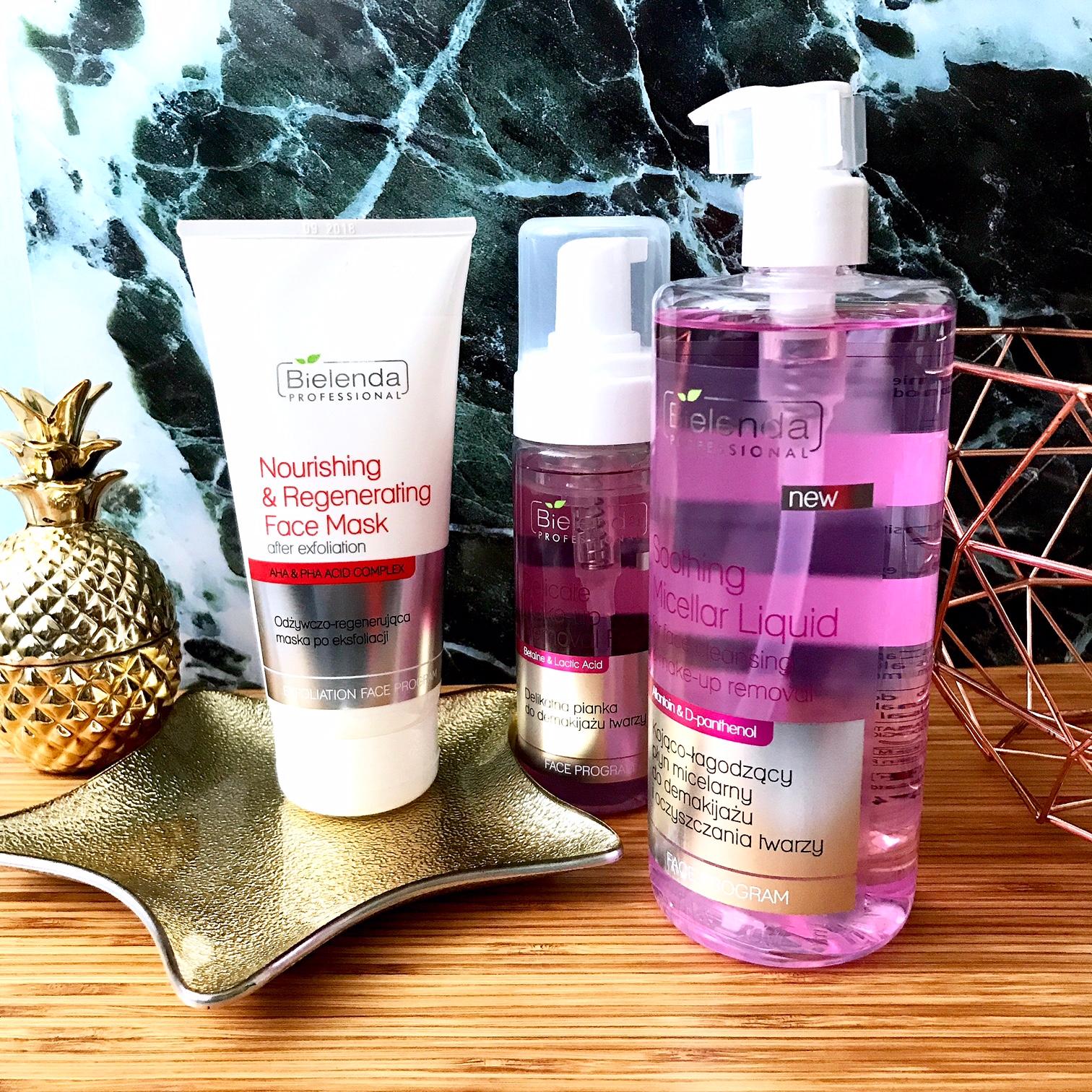 zdjęcie przedstawiające produkty do pielęgnacji twarzy Bielenda Professional