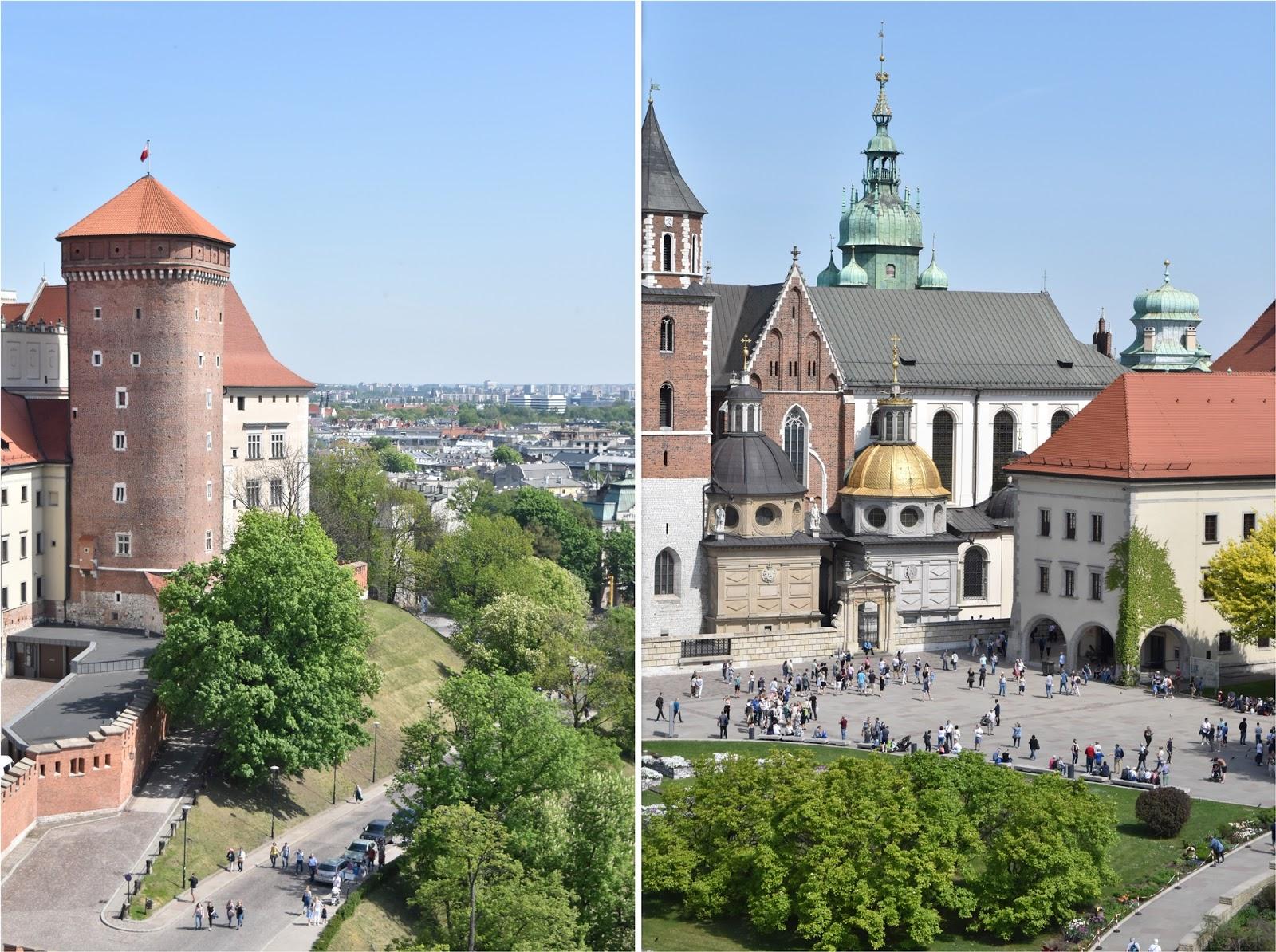 Widok na Kraków, Wawel, Wieża Sandomierska, Kraków w jeden dzień