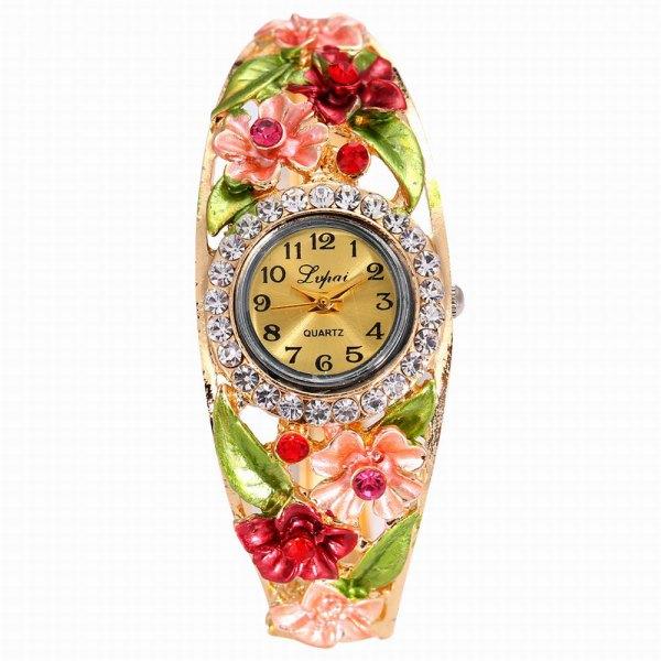 Lvpai P051 Women Flowers Bangle Quartz Watches