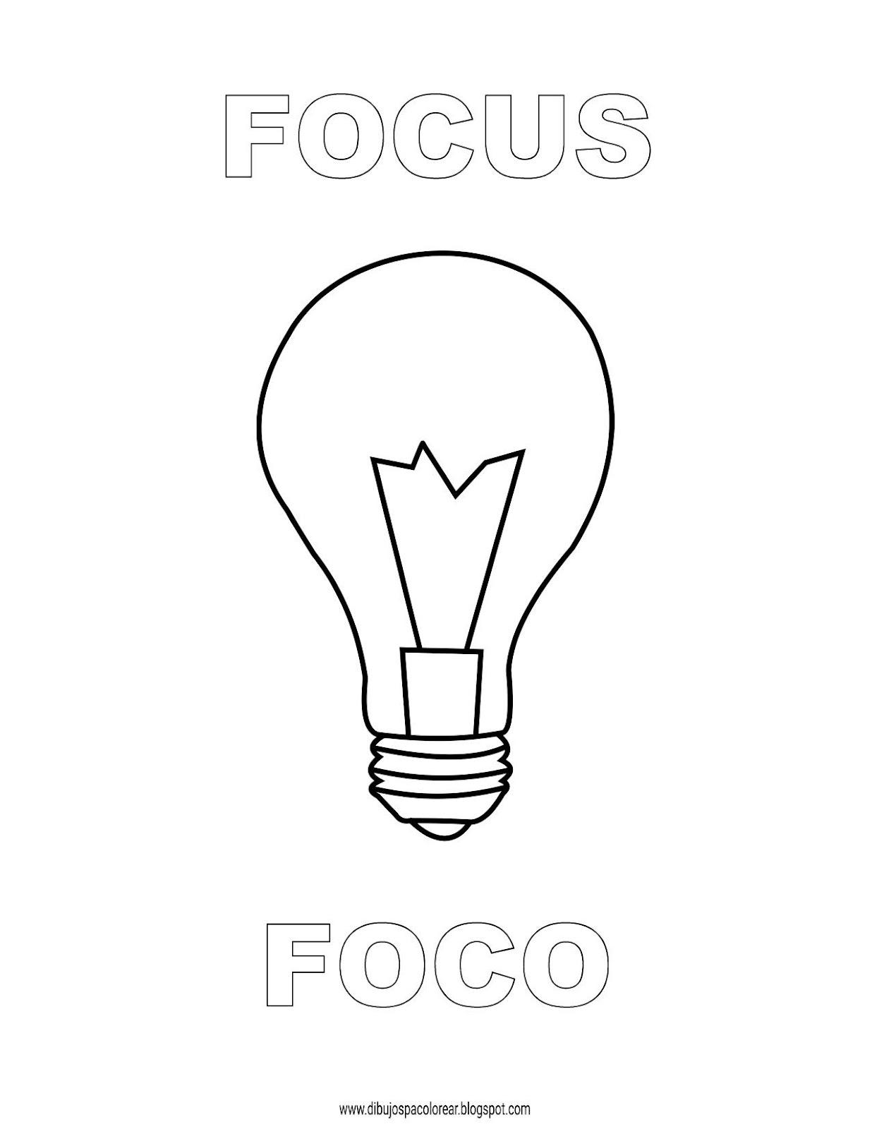 Dibujos Inglés Español Con F Foco Focus Dibujospacolorear