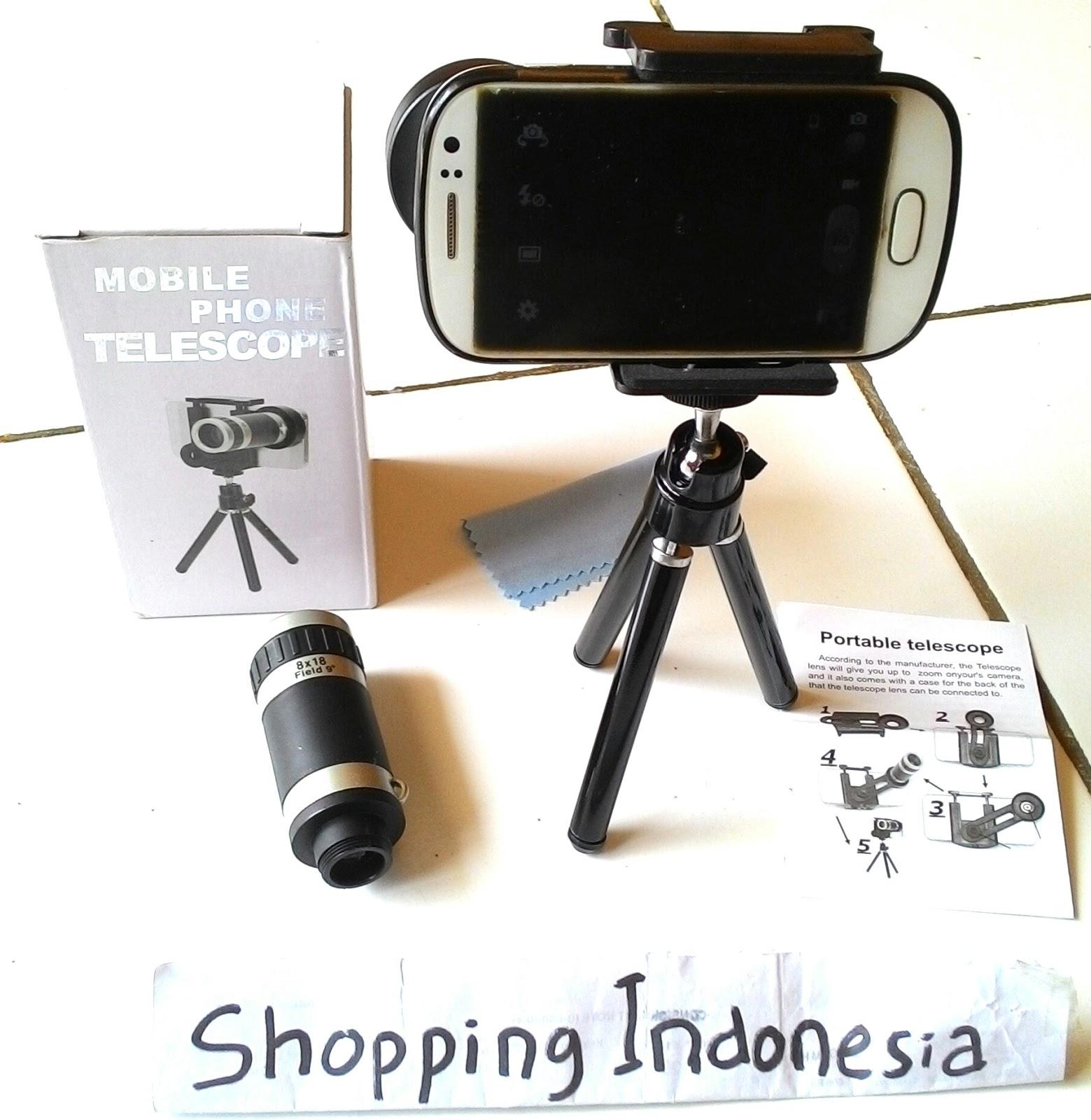Lensa tele zoom 8x tripod untuk smartphone HP fotography