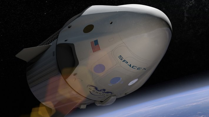 Wallpaper: The SpaceX unveil event of Crew Dragon