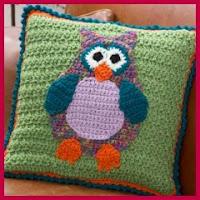 Cojín búho a crochet
