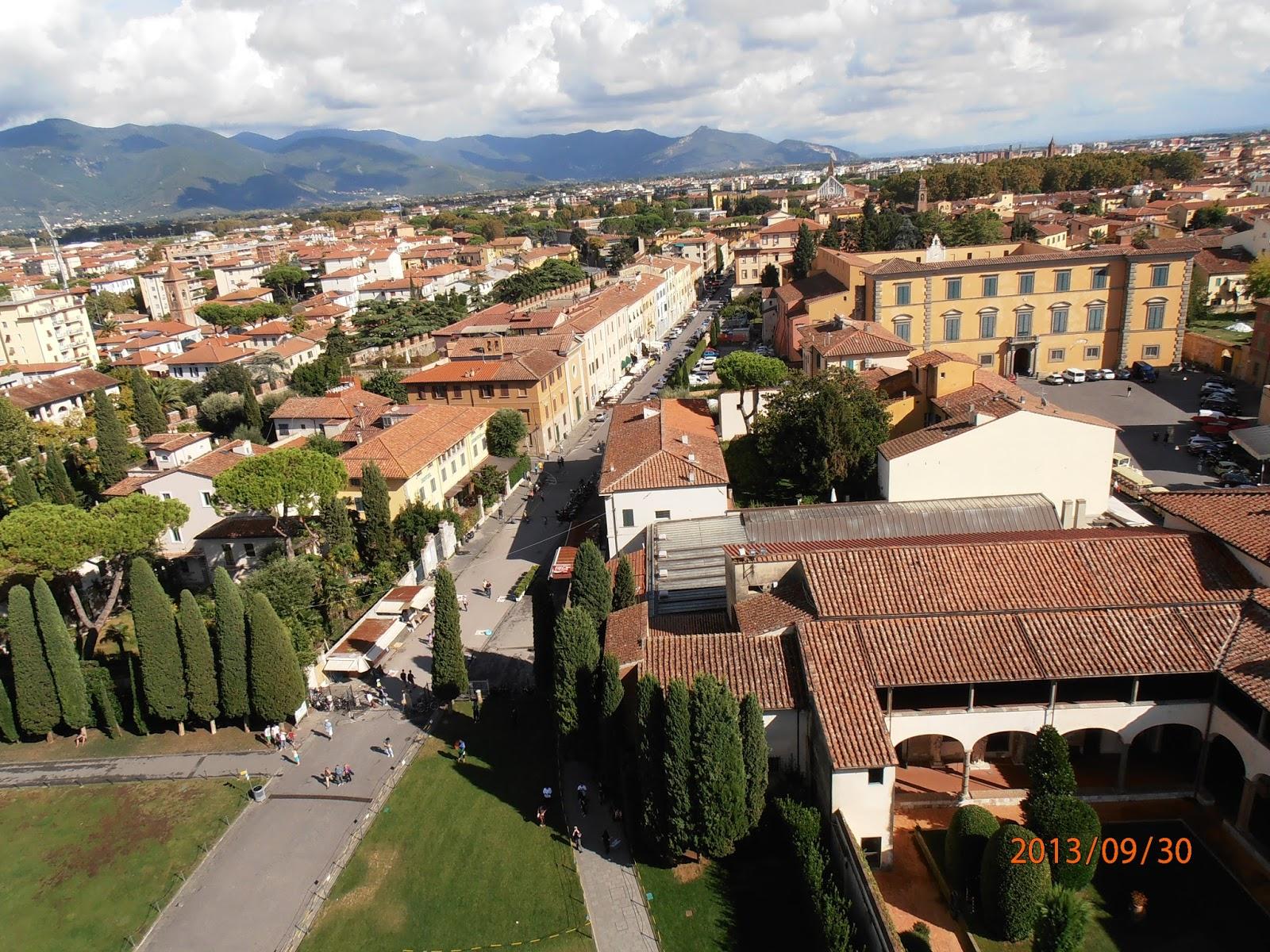 Vista da Torre de Pisa - Itália