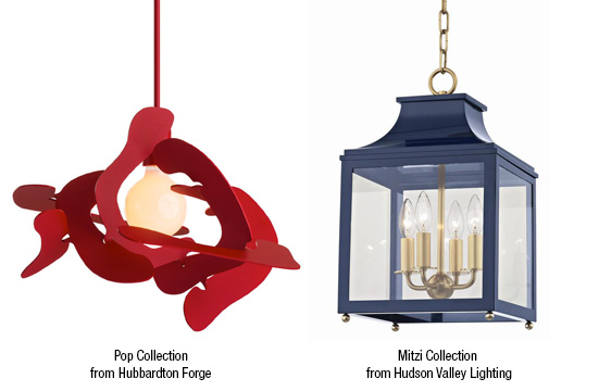 Introduction of color to lighting like the Pop Collection from Hubbardton Forge