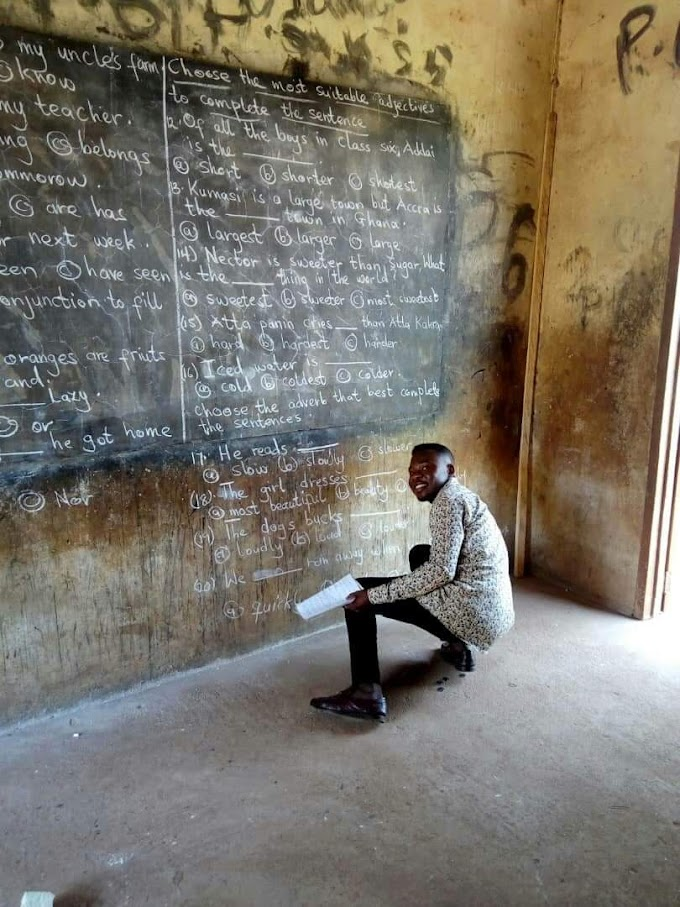 No funds for printing, teachers forced to write exam questions on blackboards
