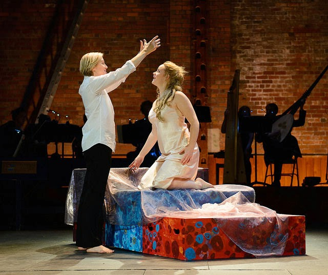Stephanie Marshall and Elizabeth Holmes in Ryedale Festival Opera's Coronation of Poppea at the Grimeborn Festival
