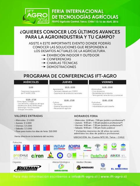 Programa de Conferencias IFT-AGRO