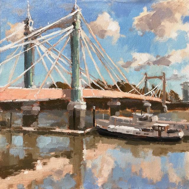 #412 'Albert Bridge, Reflections' 12×12″
