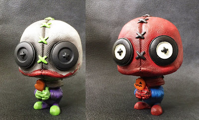 Super Hero Edition Trick 'r Treat SackFace Jnr Resin Figures by UME Toys - The Joke & Spider-Man