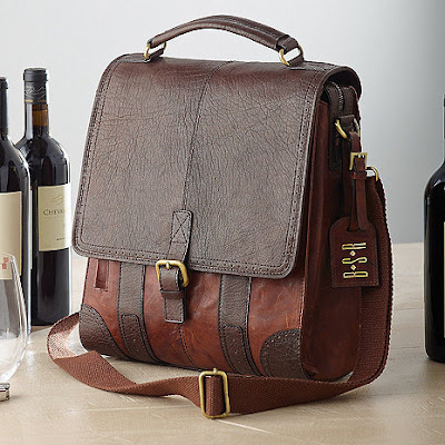 K'Mich Weddings - wedding planning - gift ideas - three bottle leather BYO wine bag - wine enthusiast