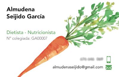 Diseño tarjeta nutricionista