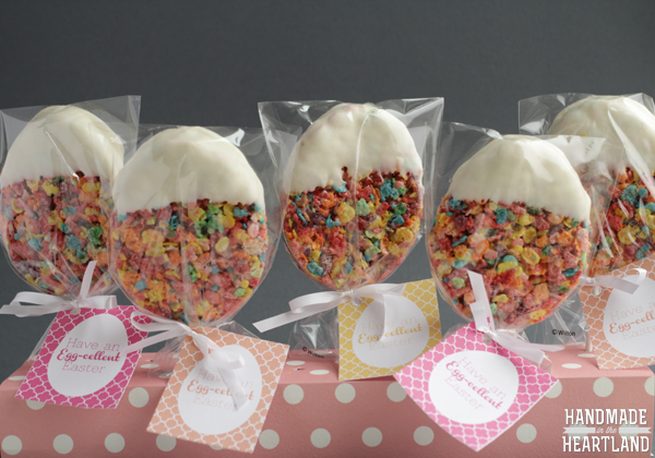 Fruity Pebble Easter Egg Treats with Free Printable!