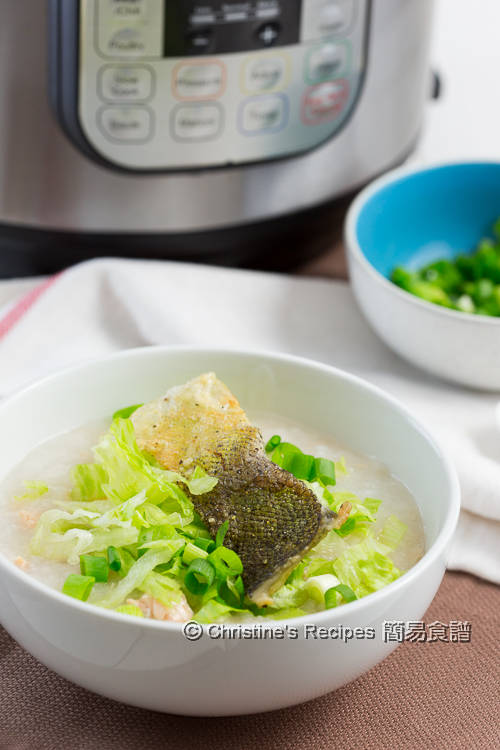 三文魚生菜粥 Salmon Lettuce Congee01